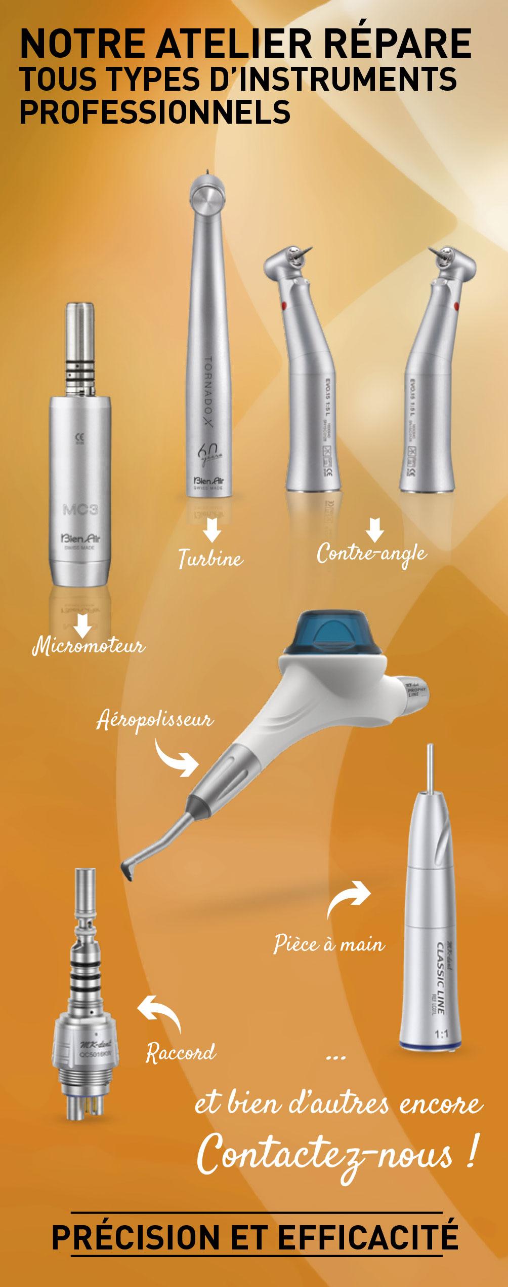 atelier de réparation de matériel dentaire